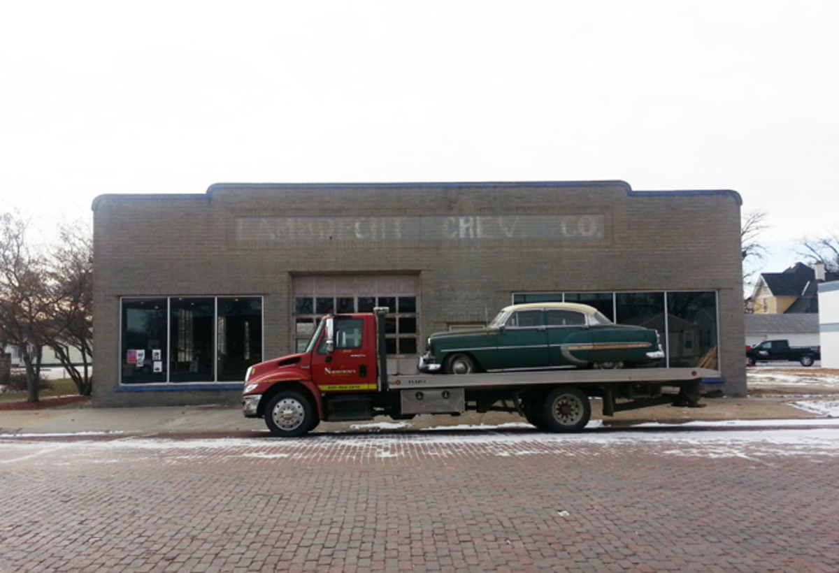 1953 in front of it's last home- Lambrecht Auto