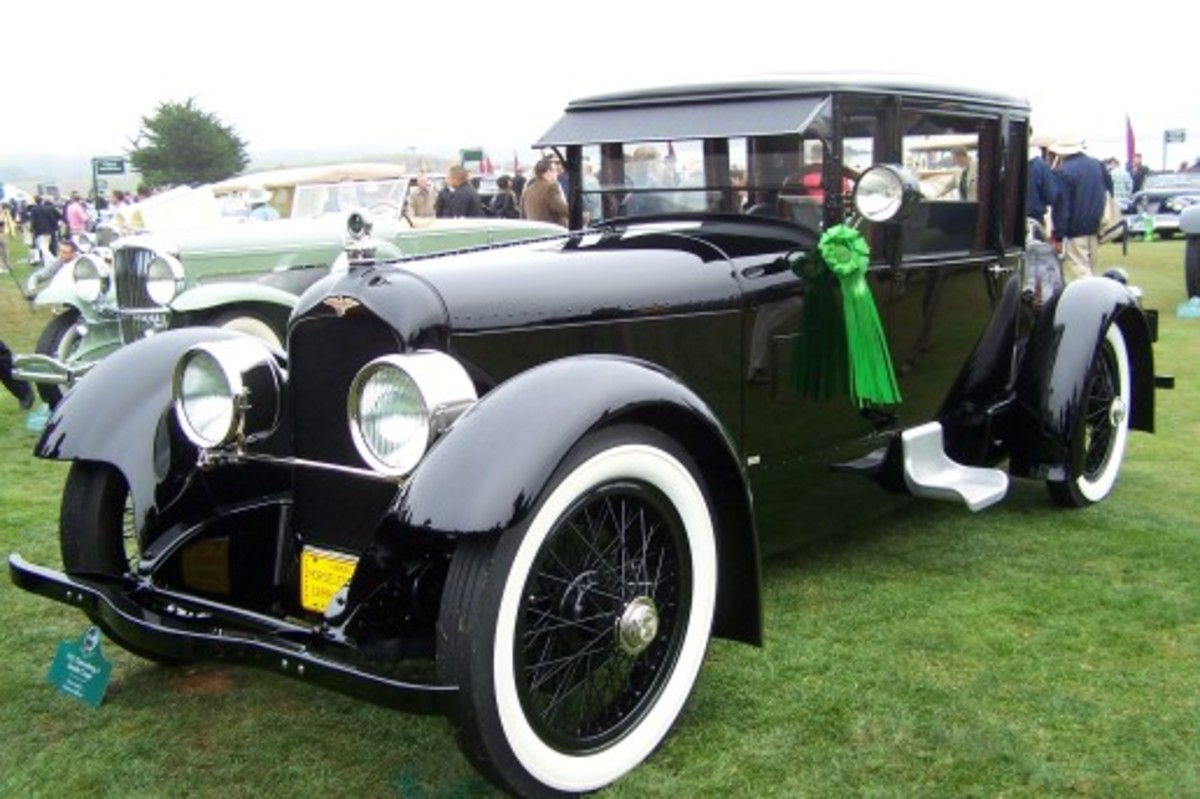 The first Duesenberg sold to the public was this Bender coupe designed with input from its owner. It was returned to its original 1922 configuration by a descendant of the original owner just before the concours.