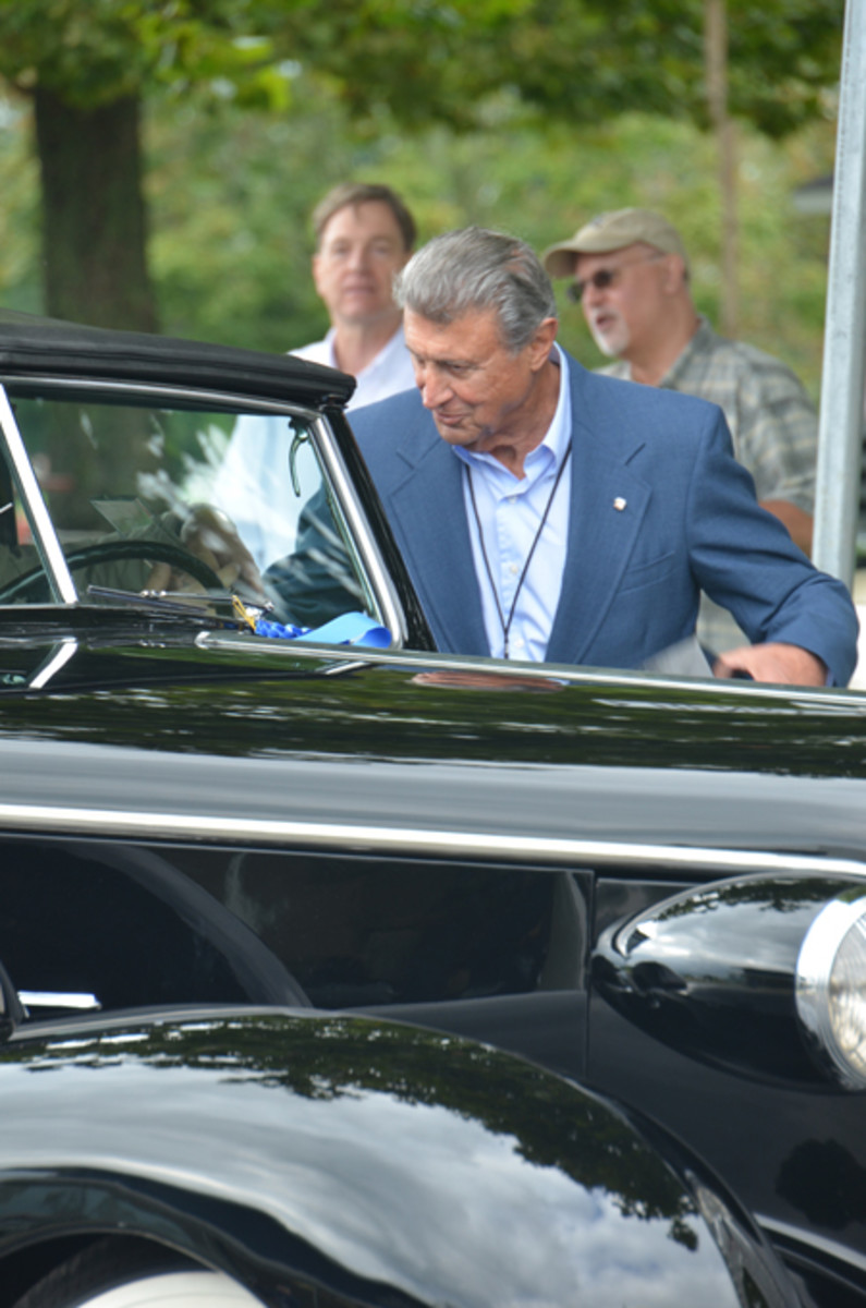 Wayne Kady, who created the styling of the 1971 Eldorado, was honorary chief judge at this year's Fall Festival. Kady was joined by a dozen other Cadillac designers and even brought his own Eldorado convertible to the concours.