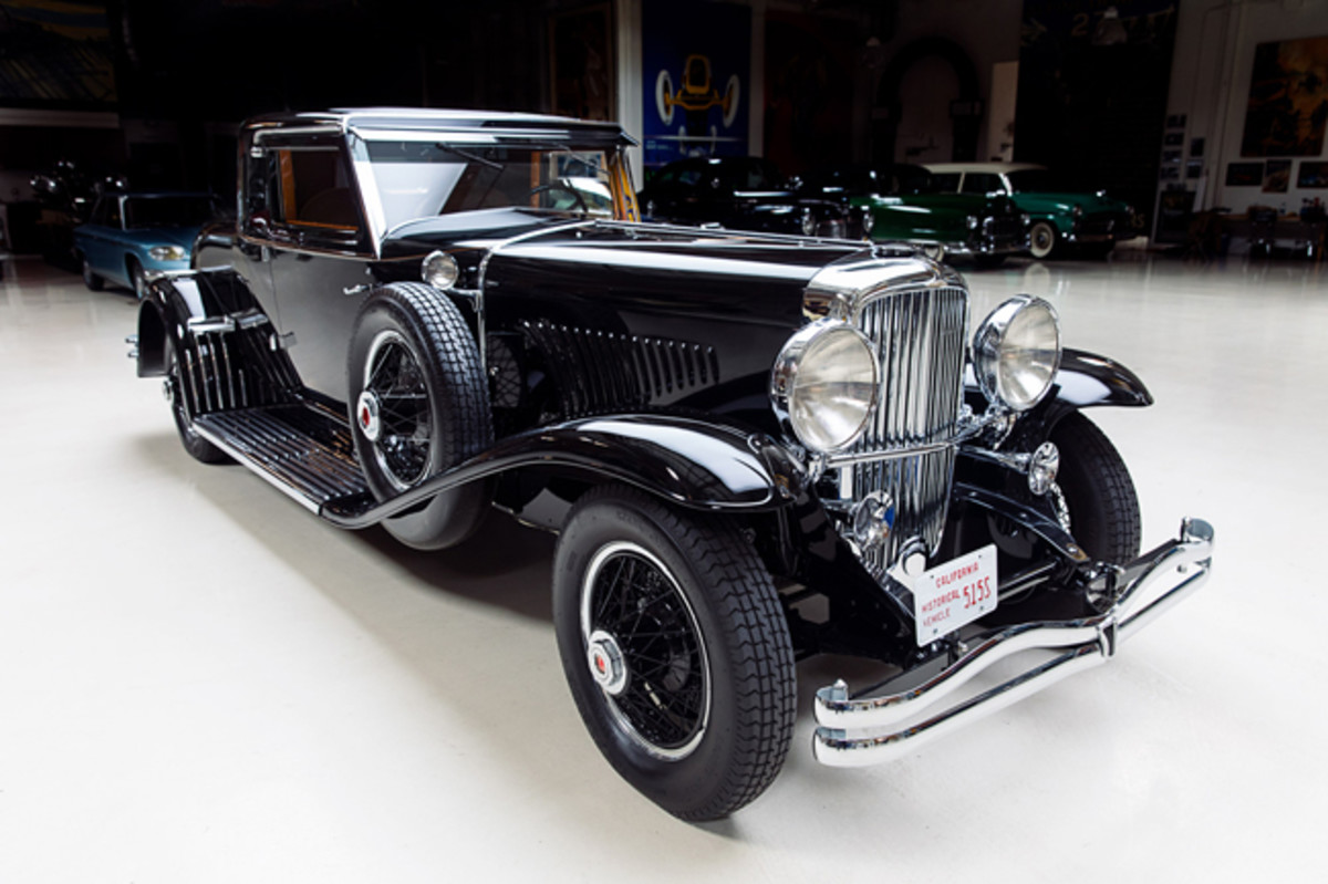 Although this chassis started out with a LaGrande coupe body, all of the Duesenberg body parts were discarded in the 1940s when a new postwar-styled convertible coupe body was installed. To recreate the chassis' original coupe body, almost every body part had to be made new (used front fenders from another car were sourced). Randy Ema has nearly every Duesenberg Model J factory drawing but those for this car, so he only had a few photos for reference.
