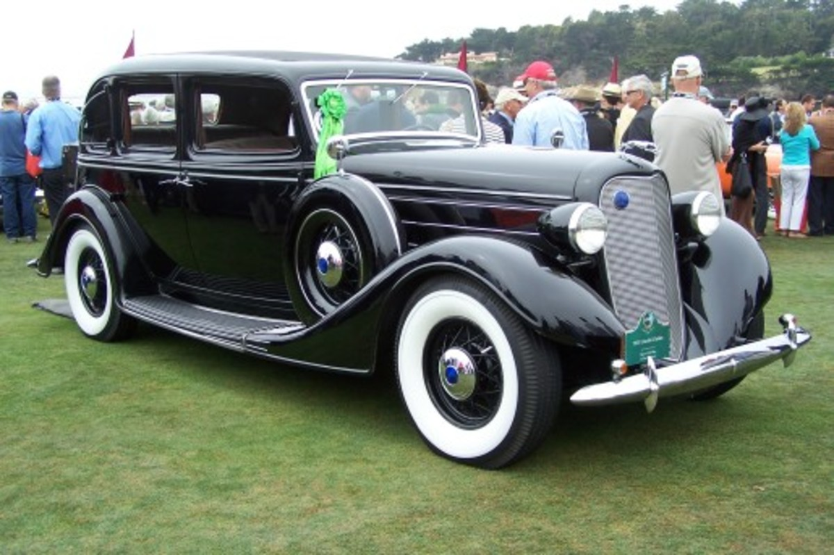 Old Cars Weekly columnist Byron Olsen displayed his unrestored 1935 Lincoln in the prewar preservation class of the Pebble Beach Concours d'Elegance.
