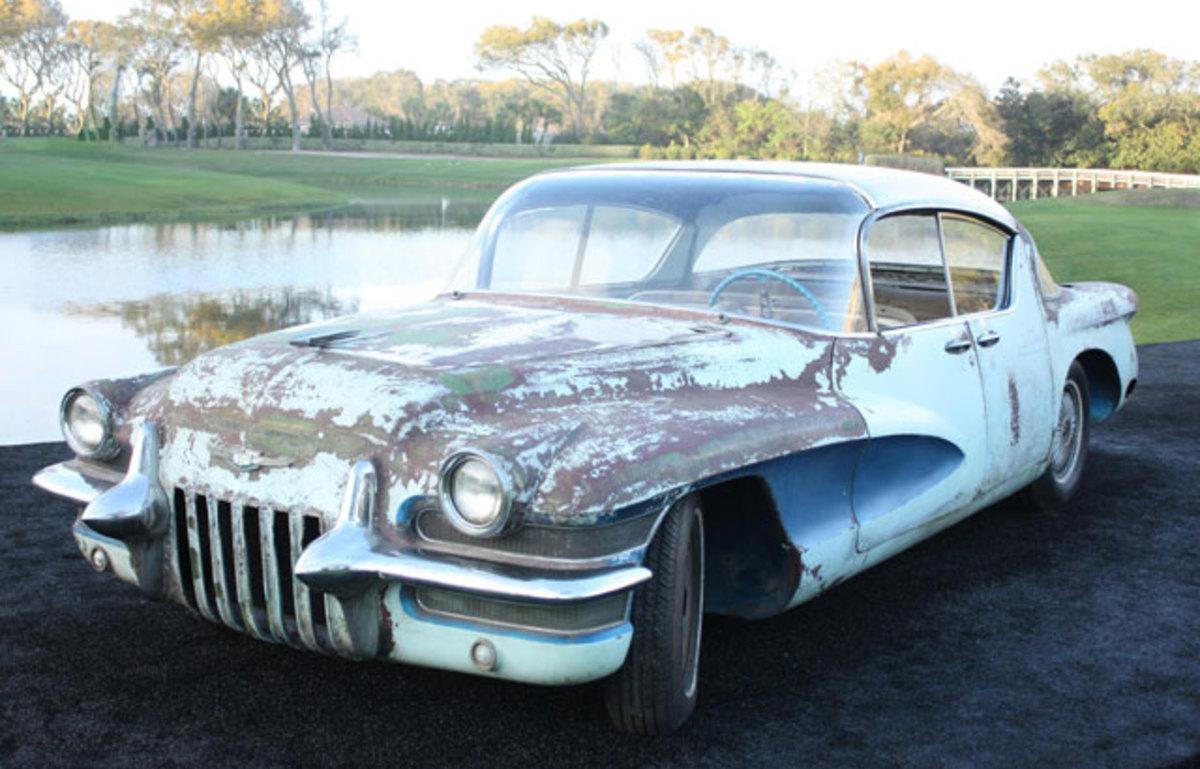 """The """"junkyard fresh"""" 1955 LaSalle sedan."""