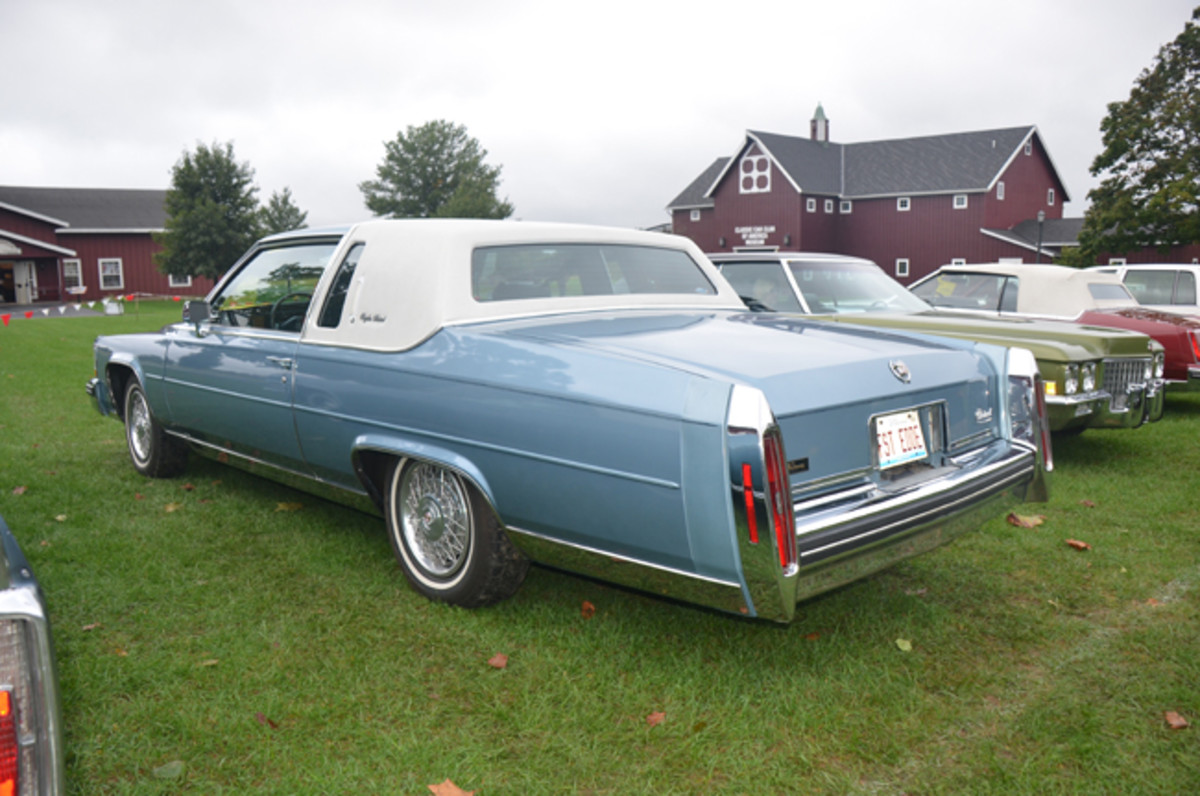A 1985 Cadillac Fleetwood Brougham from the last year that the model could be had in coupe form.