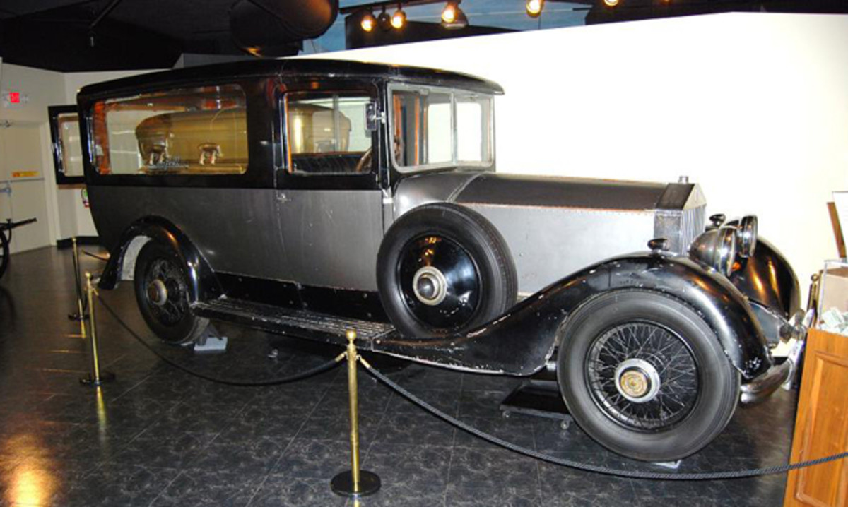 The NMFH is trying to raise donations to restore this Rolls-Royce hearse.