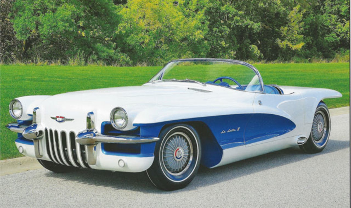 The restored 1955 Lasalle roadster.