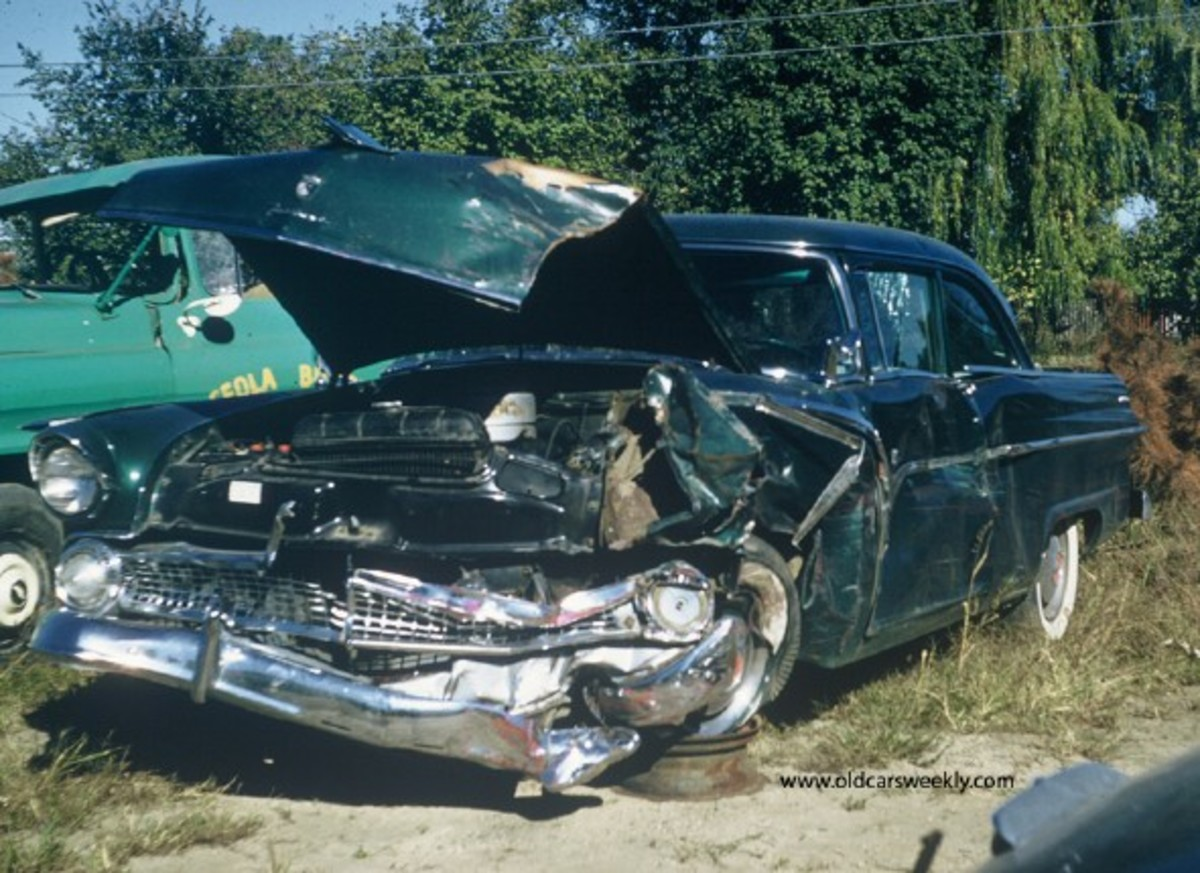 The victim's 1955 Ford Fairlane Club Sedan.