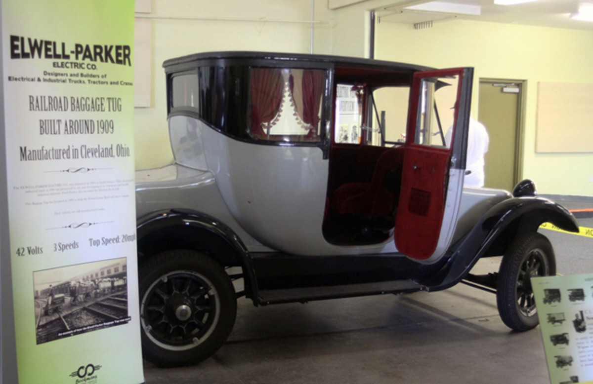 A 1930 Detroit Electric currently on display in the Electric Vehicle Museum.