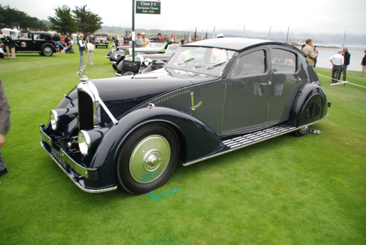 Taking best of show at the 61st Pebble Beach Concours d'Elegance was this interestingly attractive 1935 Voisin Aerodynamic sedan owned by Peter and Merle Mullins