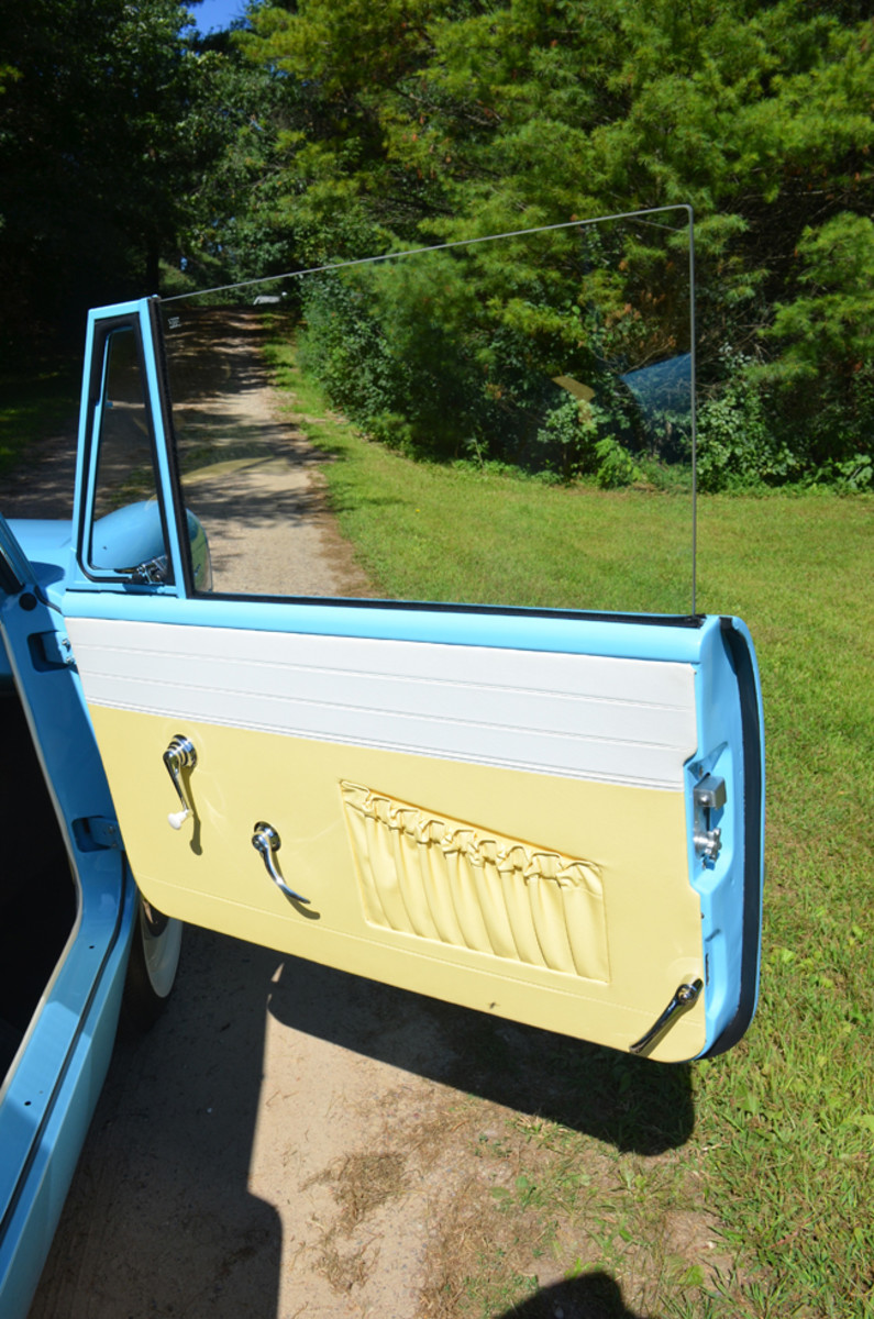 Note the locking handle on the lower right portion of the door sealing the vehicle for water entry.