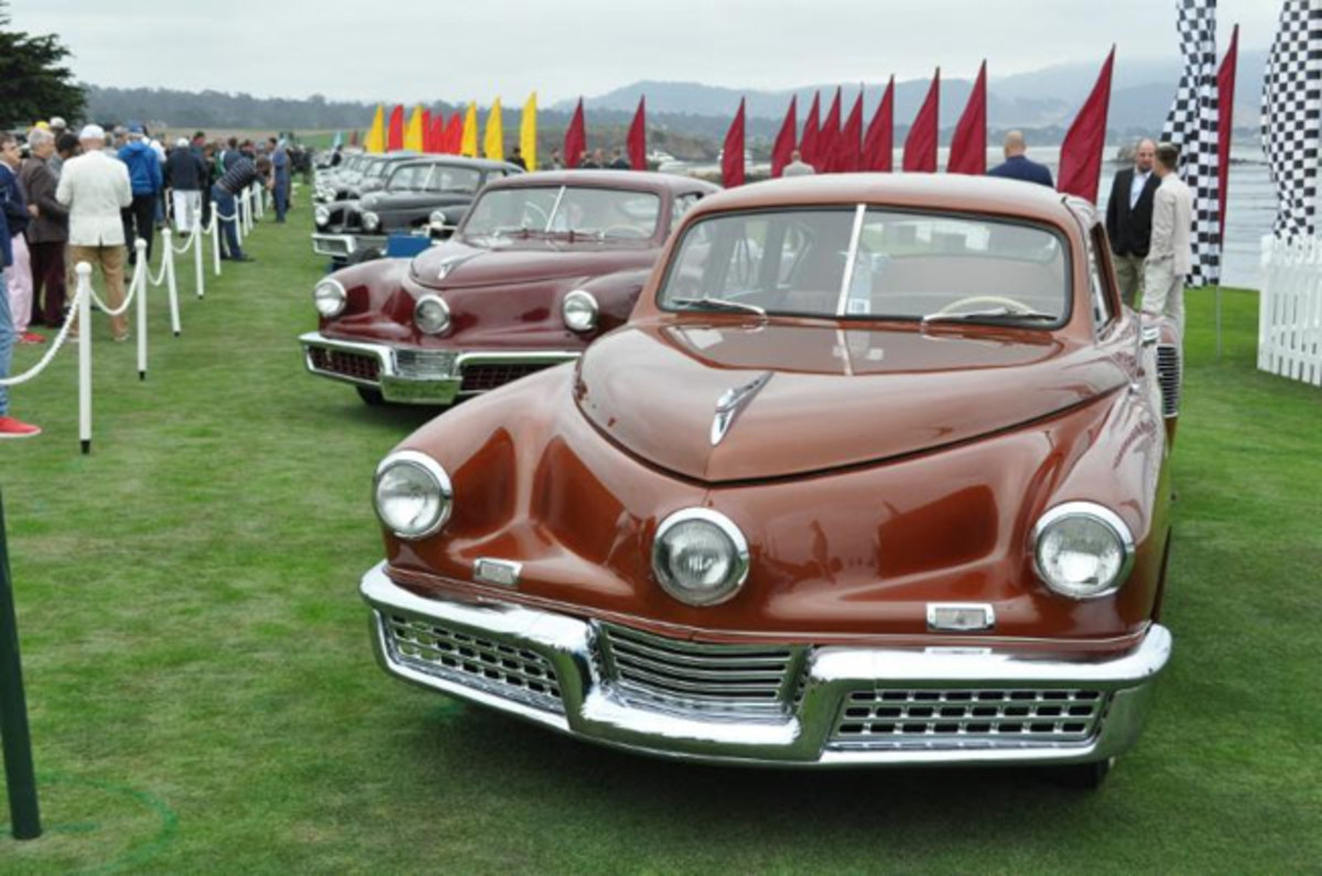 Tucker Automobile Class at Pebble Beach Concours August 2018. Photo - Bill Rothermel