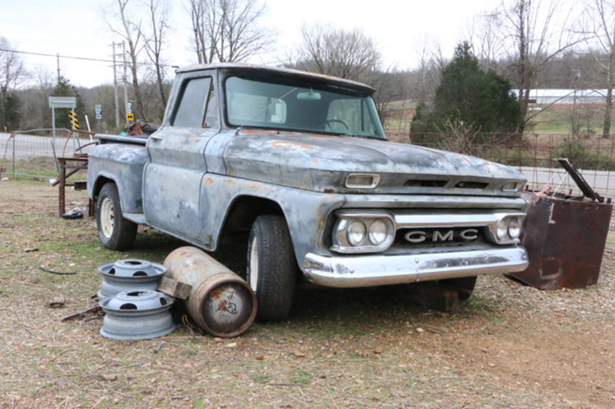'66 GMC pickup is for sale only as a complete unit. It runs and drives and has a factory automatic transmission.