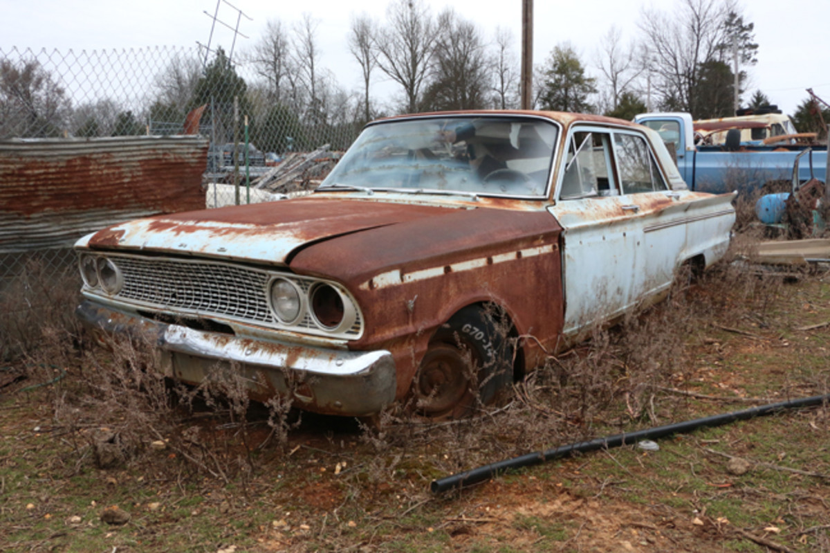 Purchased at an auction for $12.50 years ago, this 1963 Fairlane four-door has a three-speed transmission and 260-cid V-8 engine.