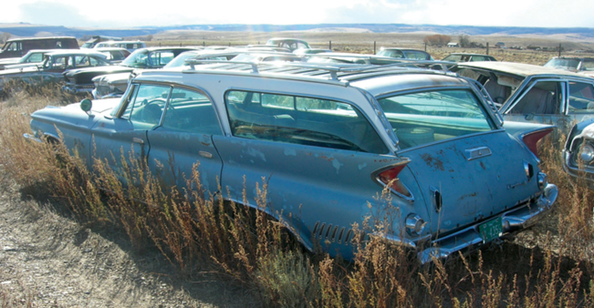 In 1960, Chrysler Corp. produced only 1,295 New Yorker station wagons in both six- and nine-passenger configurations. This example needs little beyond cosmetic attention and likely mechanical work to return to the road.