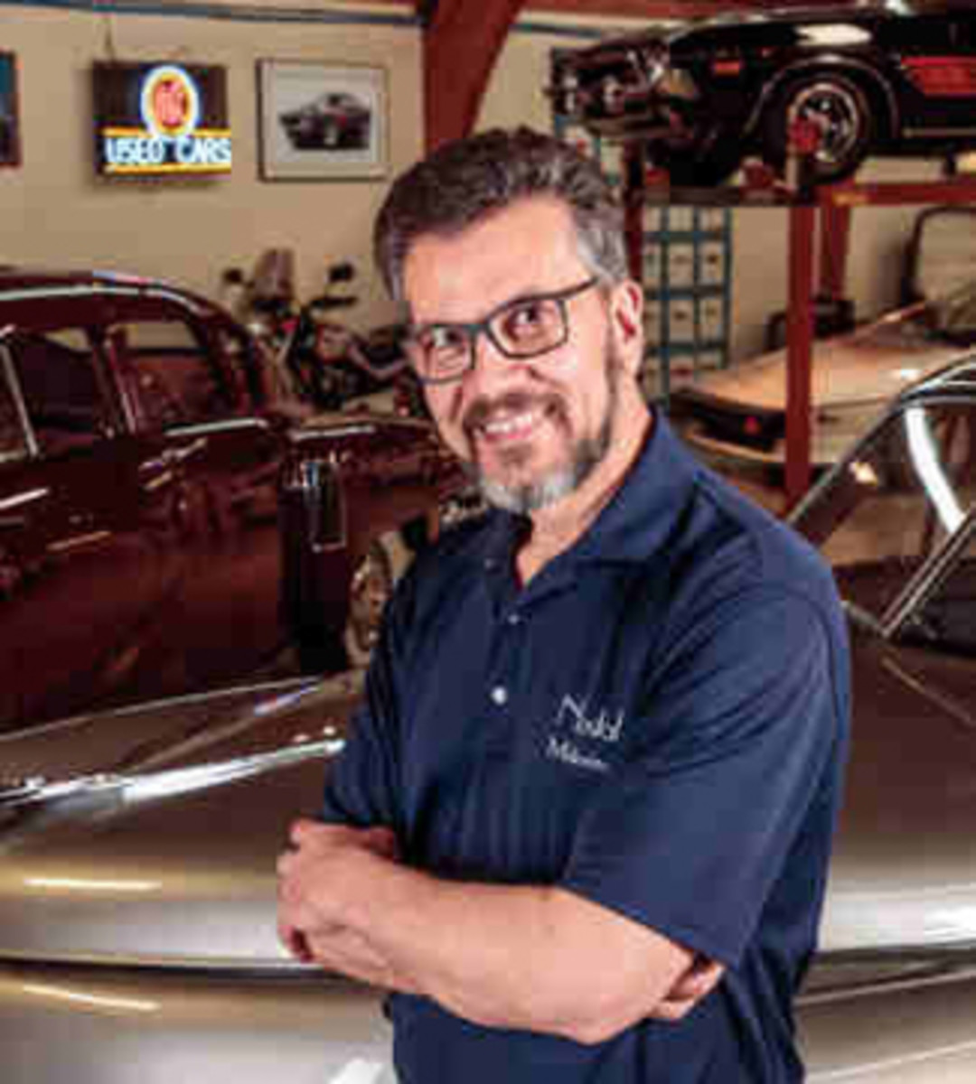 Mark Lieberman is the president of Nostalgic Motoring, which deals in classic and collectible automobiles, and he has seven patents to his credit. In 1991, he purchased the first of the five Tucker automobiles he has owned. Through his business, he is actively involved in the restoration and preservation of Tucker automobiles. Mark continues to serve the Tucker Automobile Club of America (TACA) as their Technical Adviser and Historian, and he also serves on the AACA Museum's Board of Directors as the Executive Board Representative for TACA. Photo - AACA Museum, Inc.