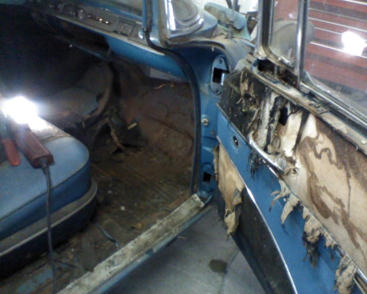 Exposure also caused the interior to deteriorate.