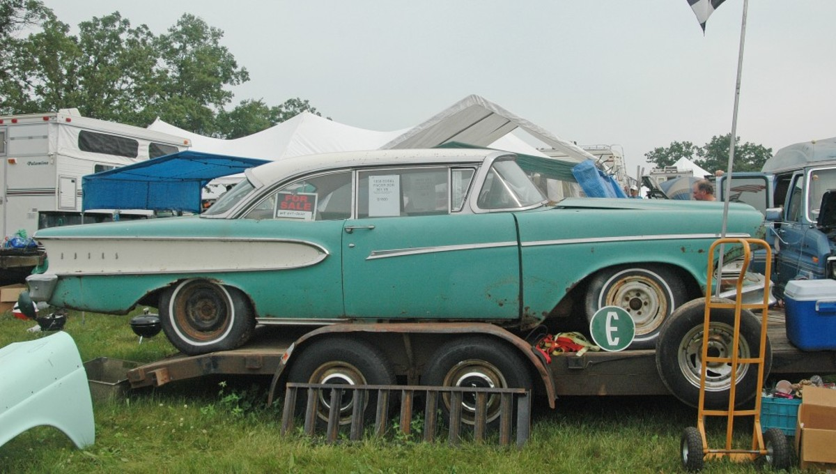 You never know what you'll see at big swap meets. You might come across a 1958 Edsel Pacer looking for a new home.