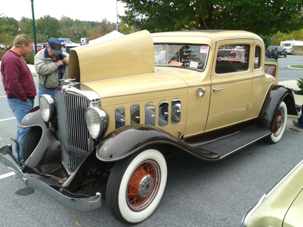 Just 26,000 miles showed on this Greater Hudson Eight rumbleseat coupe from 1932. It was originally priced at $1,045 during the height of the Depression, and the seller of this fine example in the 2014 car corral was looking for a reasonable $23,500.
