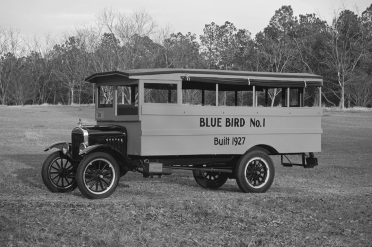 Blue Bird 1, the country's first school bus, is on display this summer at the Henry Ford Museum in Dearborn, Mich. The bus was built in 1927 by Georgia car dealer Frank Luce, Sr.