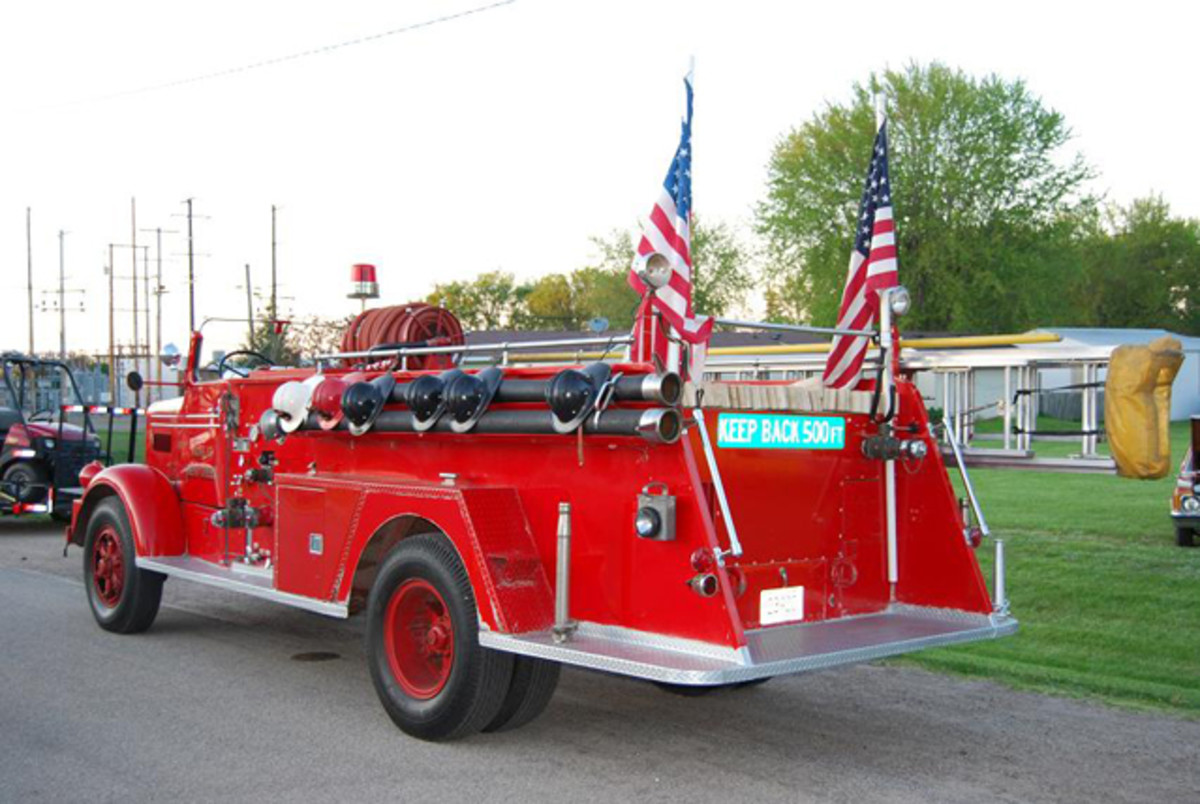 The FWD fire engine was displayed at the Bear Creek old car show last May. It reminded us how much we like old fire engines.