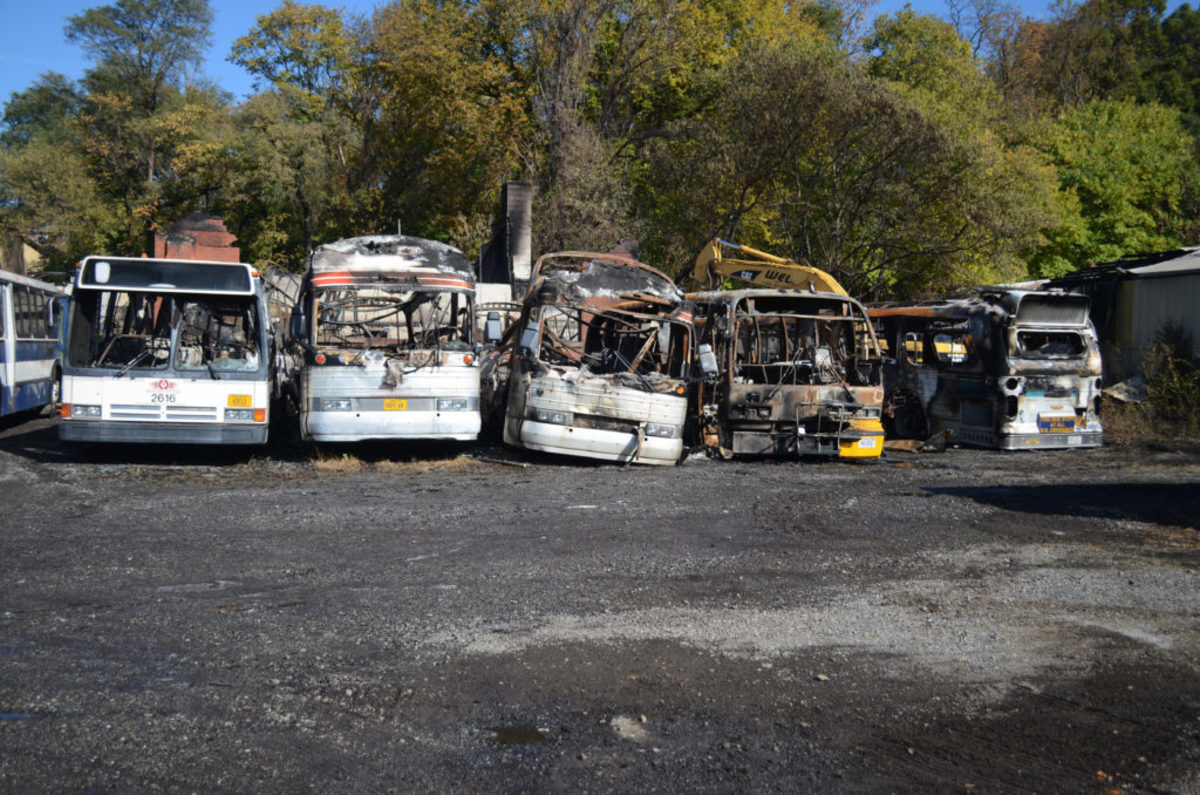 The heat from the blaze in the building also damaged buses stored outside and adjacent to the museum.