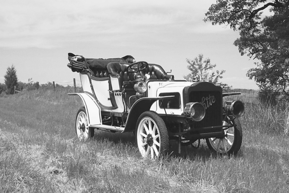 George Kaforski's 1907 White Model H took several years to restore, and several more years of tinkering before it ran right. Now, it is one of the nicest White steamers around.