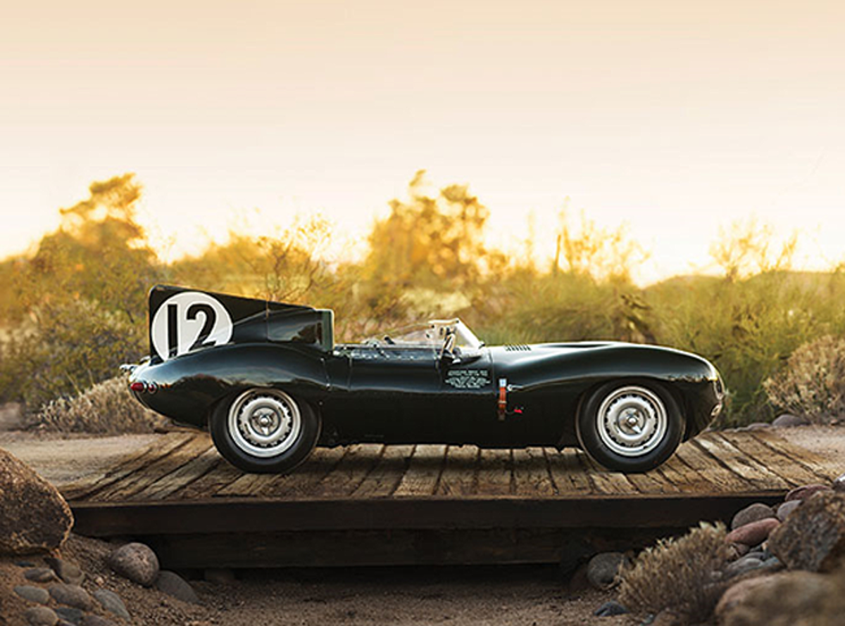 The Factory Works 1954 Jaguar D-Type raced at Le Mans by racing legend Stirling Moss, set to lead RM Sotheby's 2018 Arizona sale (Credit – Patrick Ernzen © 2017 Courtesy of RM Sotheby's)