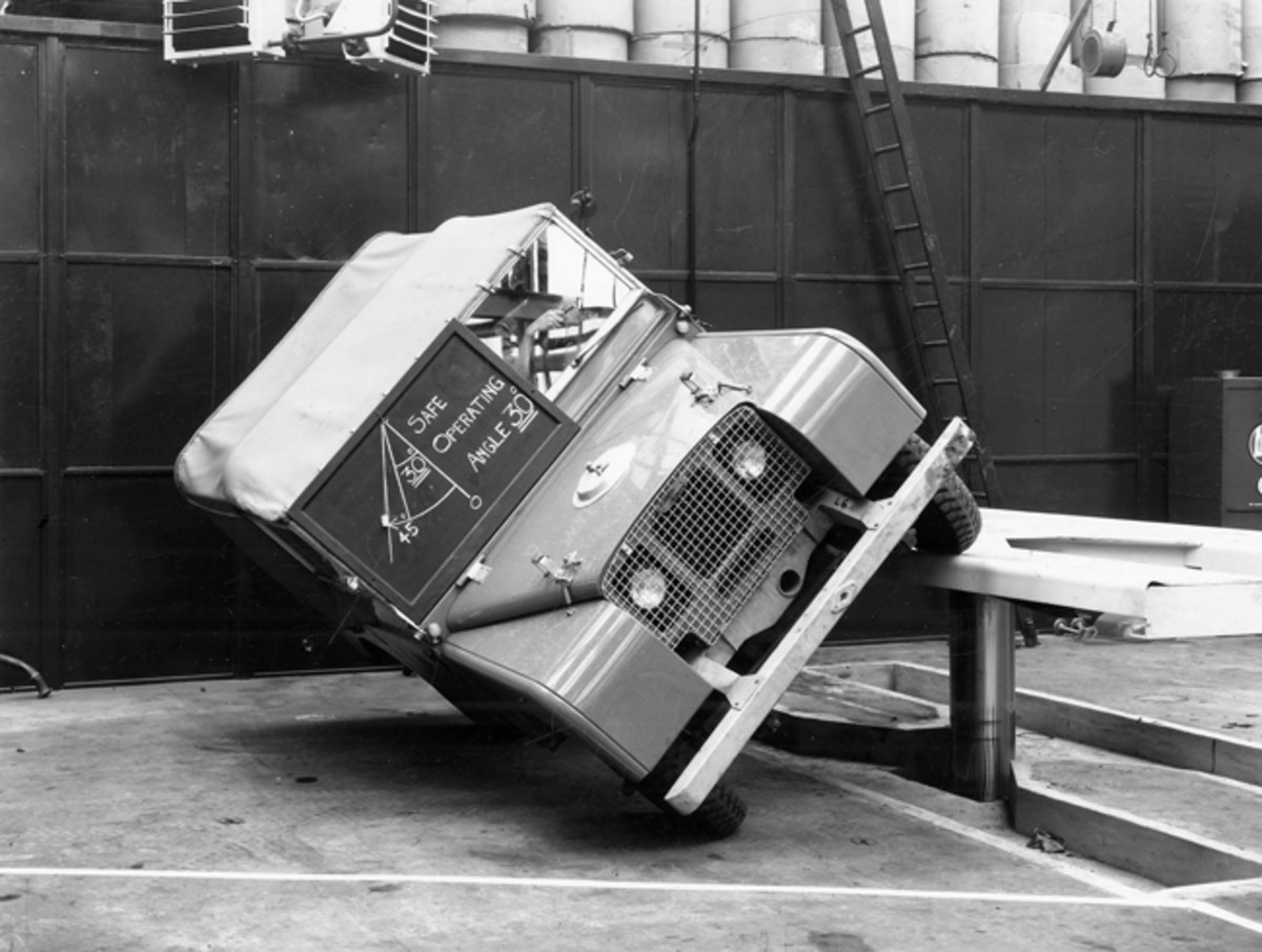 Early Rover advertising touted the truck's agility.