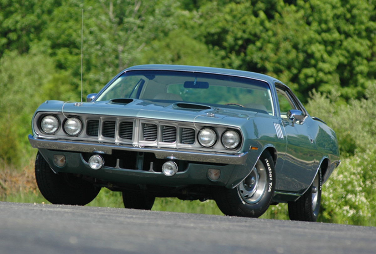 The the business end of the 1971 'Cuda was redesigned and carried this look for only one year. The 1972 version was much closer to the 1970 model, but the '71 version is at the top of the pantheon of Barracuda values.