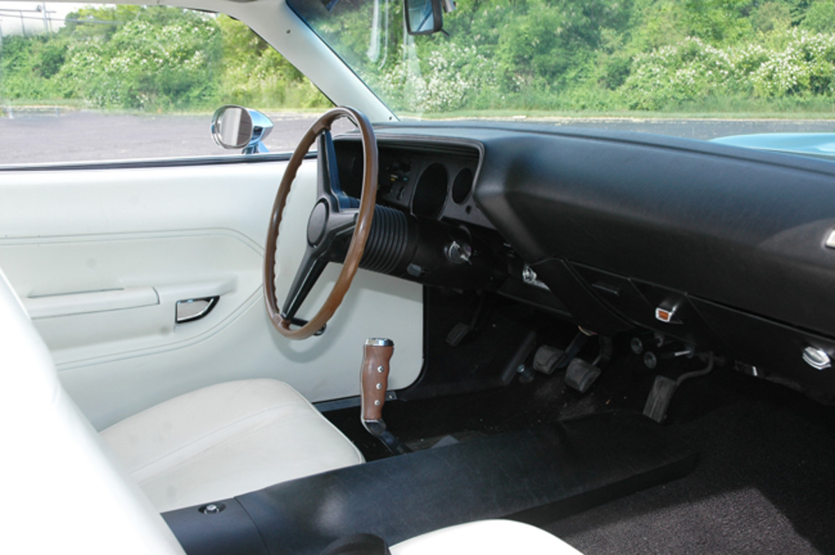 "The iconic ""Pistol Grip"" shifter"