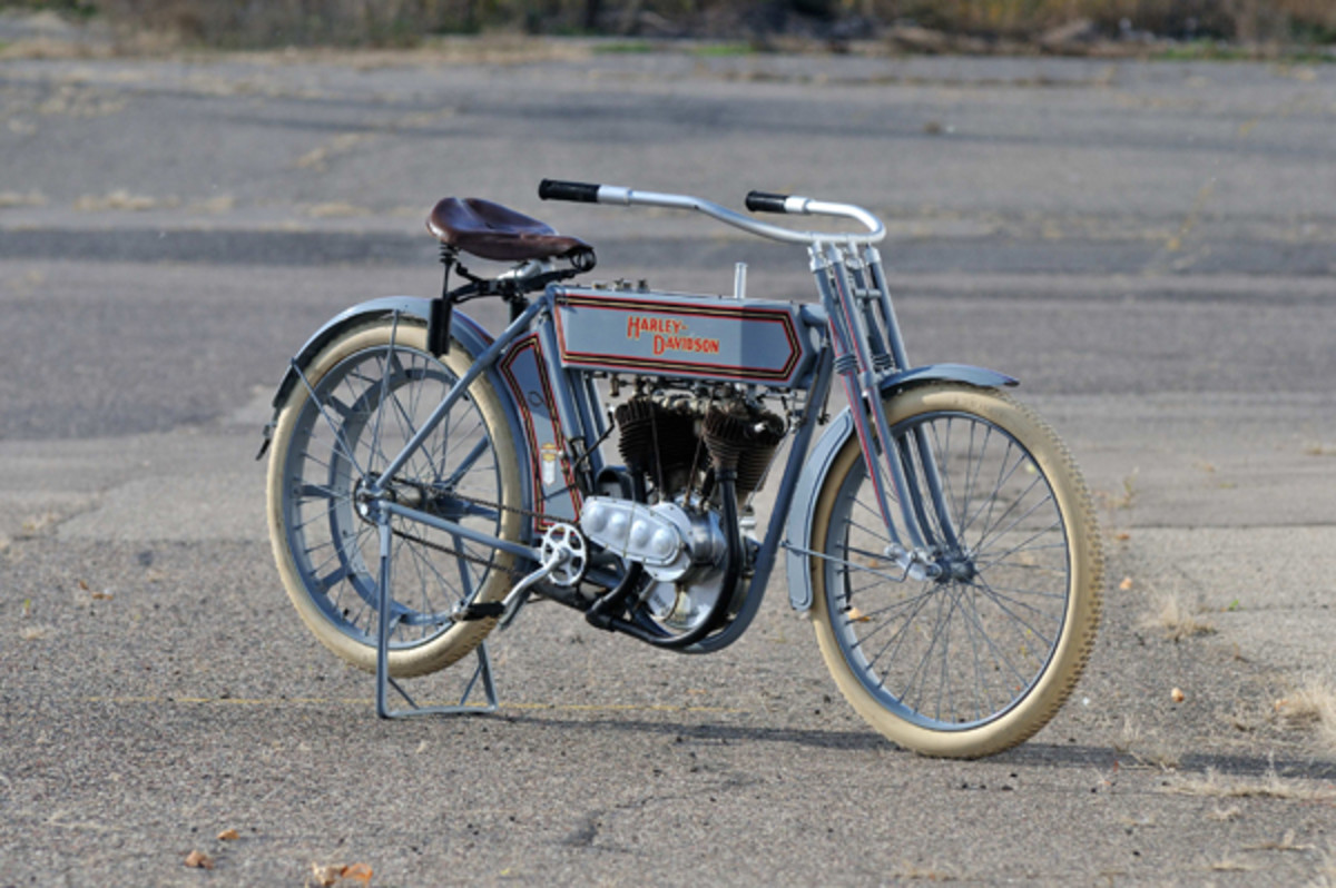 George Pardos Collection, 1911 Harley-Davidson 7D. (Photo by David Newhardt, Courtesy of Mecum Auctions)
