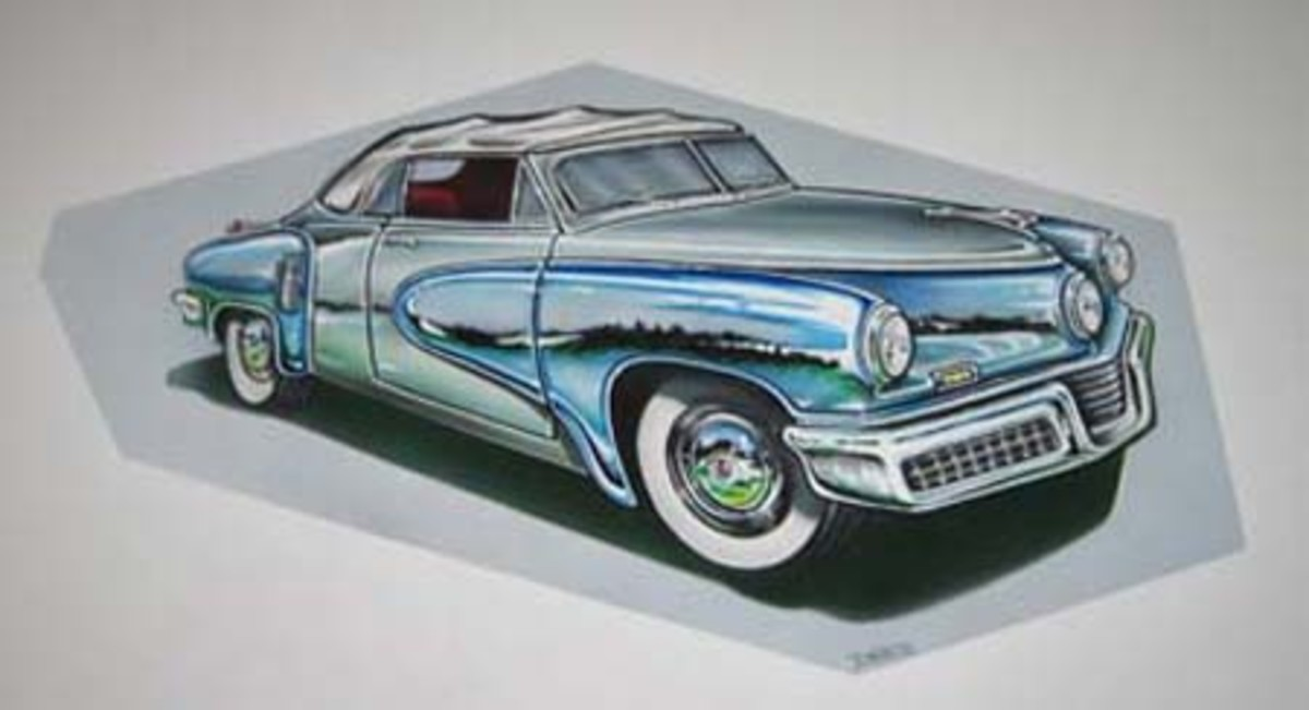 A Benchmark Classic's rendering of the Tucker convertible