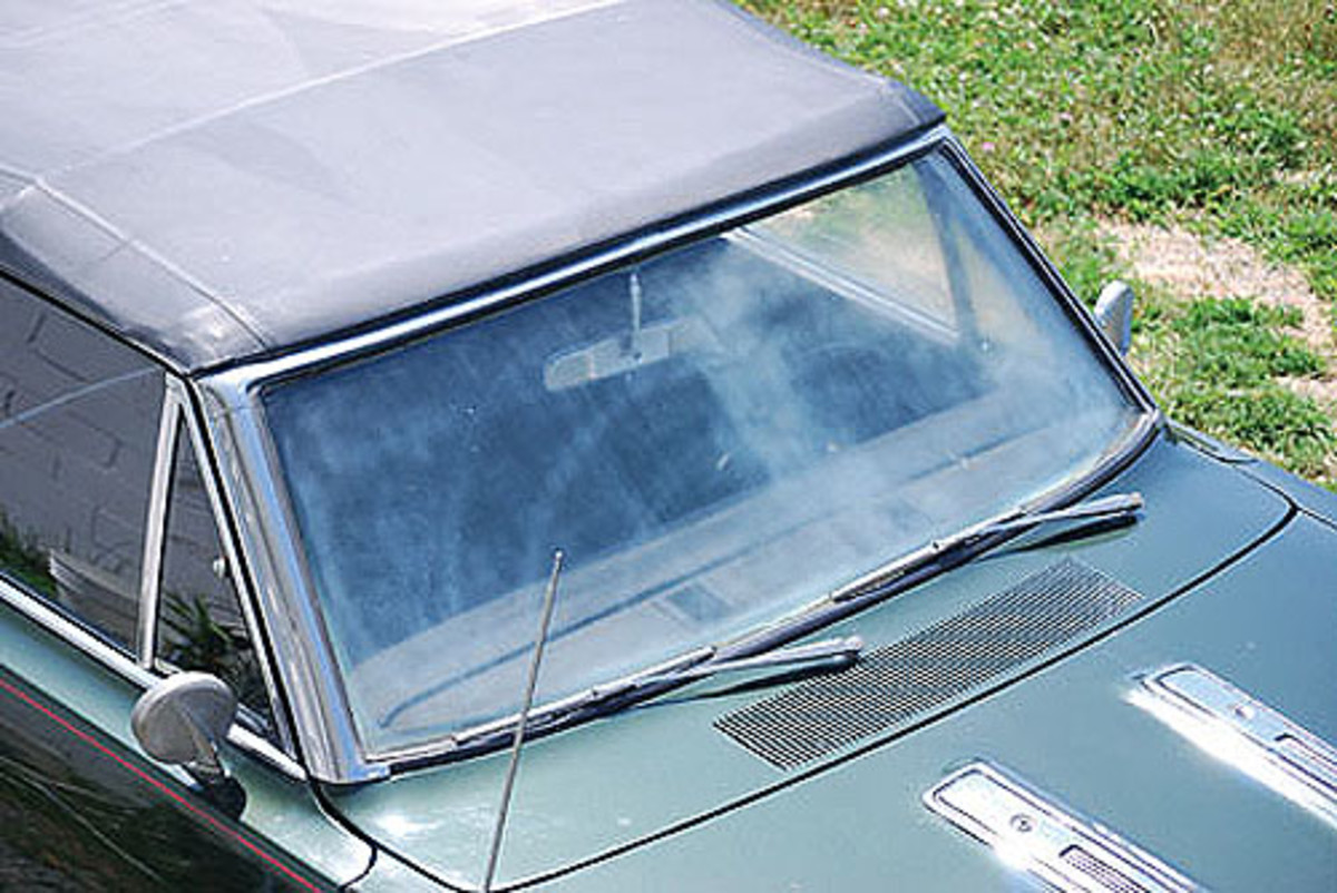 Years of wiper rash and the northeast's worst elements were no friend to my '67 Barracuda's original front glass. Plus, the fact I tried to restore it with some steel wool and compound …no good! Don't believe everything you read on the Web. I called up Norman's Glass in New Jersey and had them take a look.