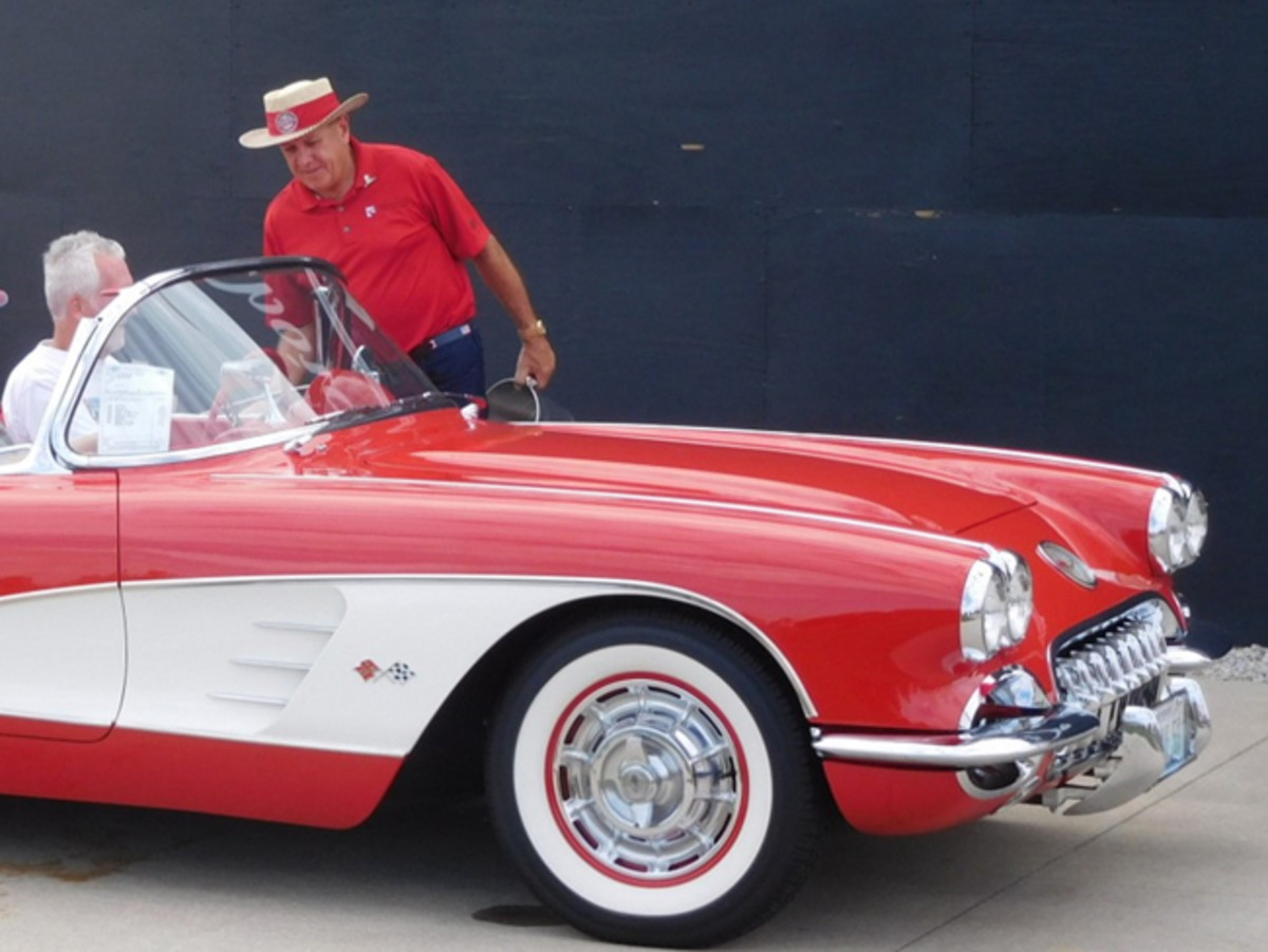 The Corvette parts guru — in his trademark Mike Yager hat — monitors the pulse of the Corvette hobby by putting on his annual Corvette Funfest event.
