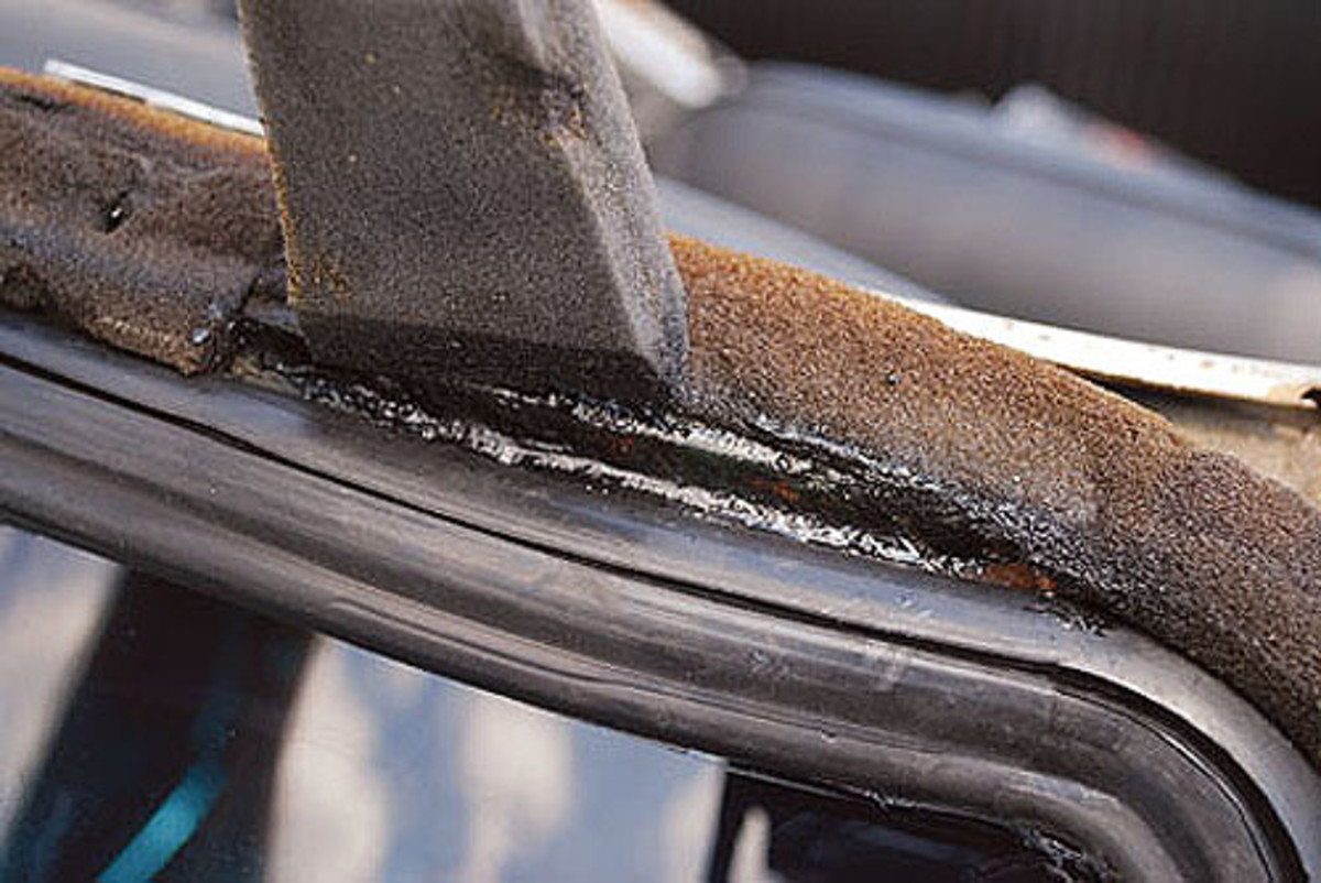 The little bit of surface rust we found on the frame was sanded down and coveredwith a coat of Eastwood Rust Reformer to stop any further intrusion of rust.