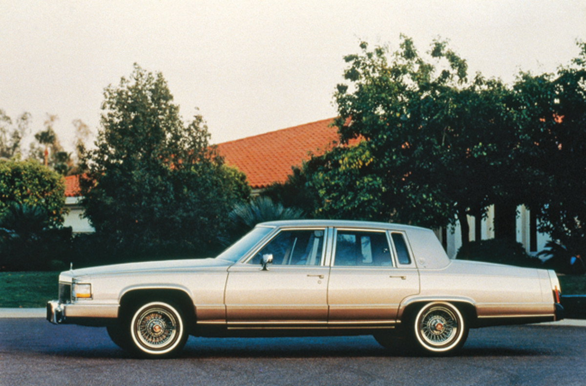 Cadillac's Brougham, the 1993-1996 Fleetwood's predecessor, which wasn't referred to as a Fleetwood from 1987-1992.