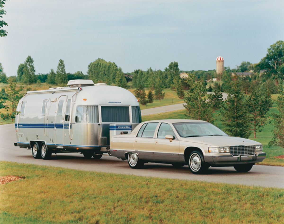 Before trucks became suburban commuter vehicles, Cadillacs were often trusted to pull travel trailers. Fleetwoods were so traditional, they remained up to the task.