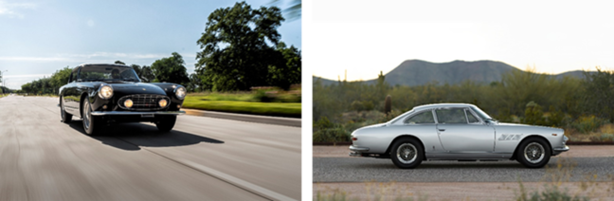 LEFT: 1958 Ferrari 250 GT Coupe (Courtesy of RM Sotheby's) RIGHT: 1964 Ferrari 330 GT 2+2 Series I (Patrick Ernzen © 2020 Courtesy of RM Sotheby's)
