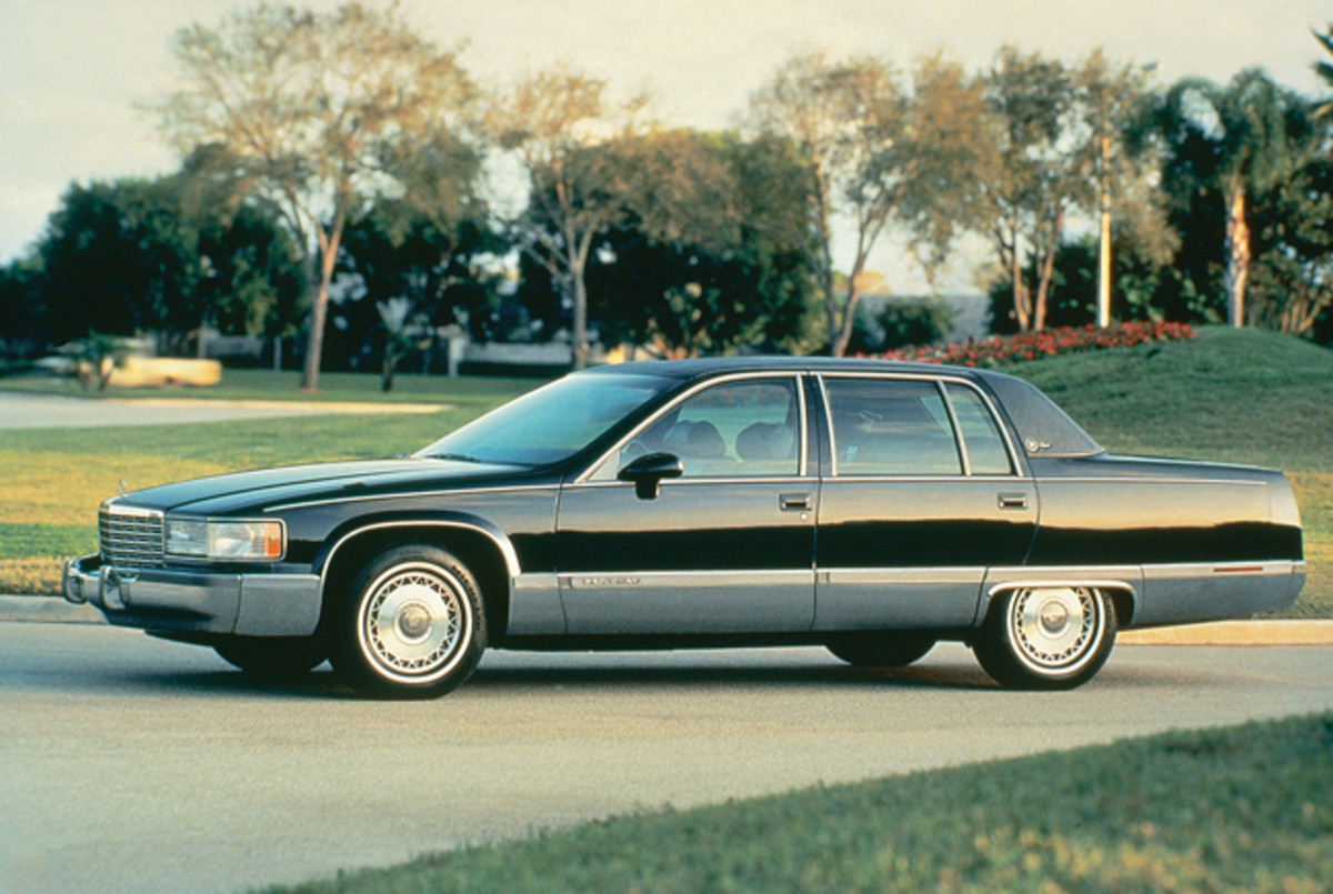 "This pre-production 1993 Cadillac has ""Brougham"" on the trim of its doors and ""d'Elegance"" on its C pillar, indicating Cadillac almost continued using that nomenclature instead of Fleetwood on its big, rear-wheel-drive models."