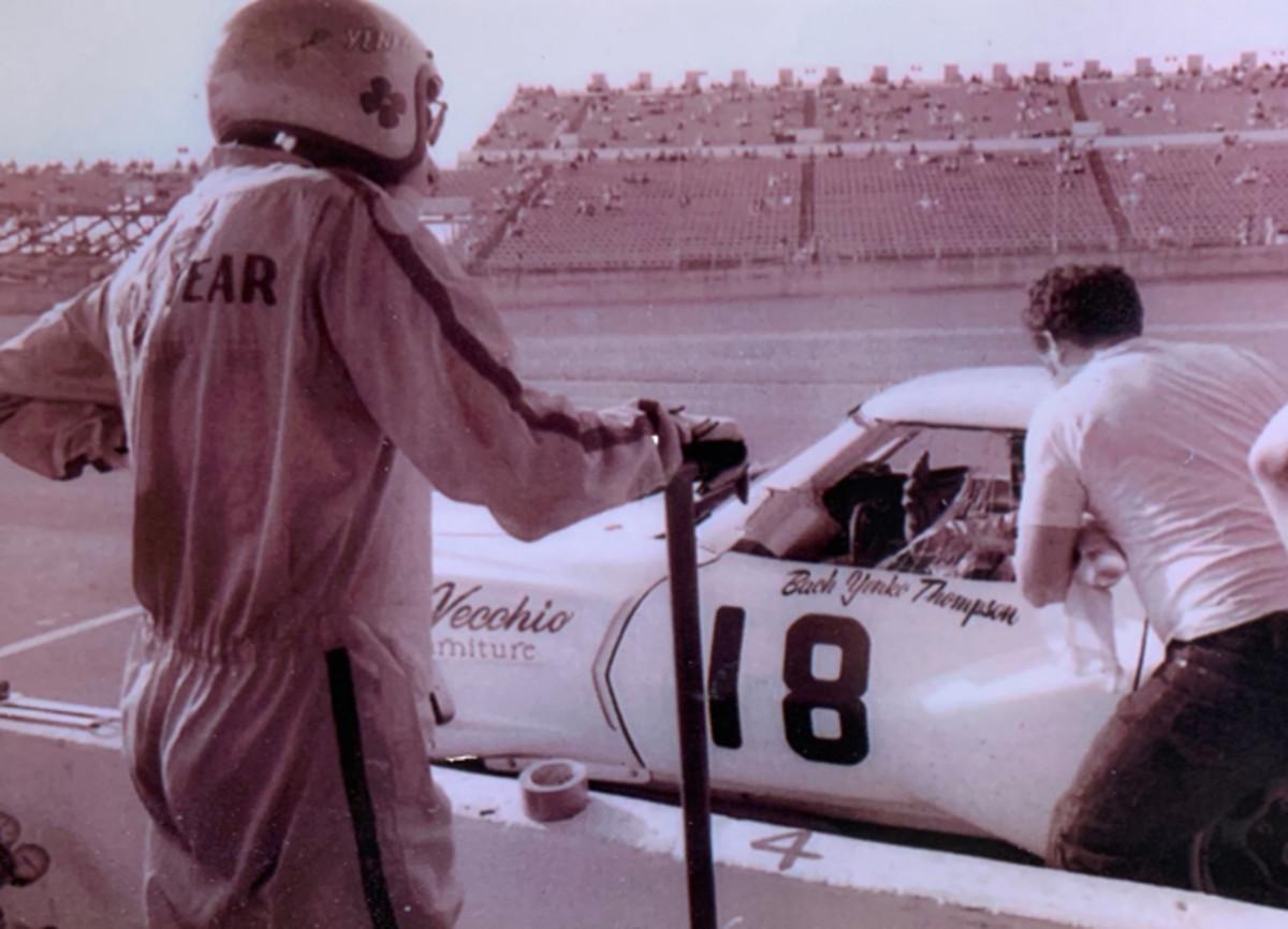 Don Yenko (left) with the Corvette at Daytona. Photo - Saratoga Automobile Museum