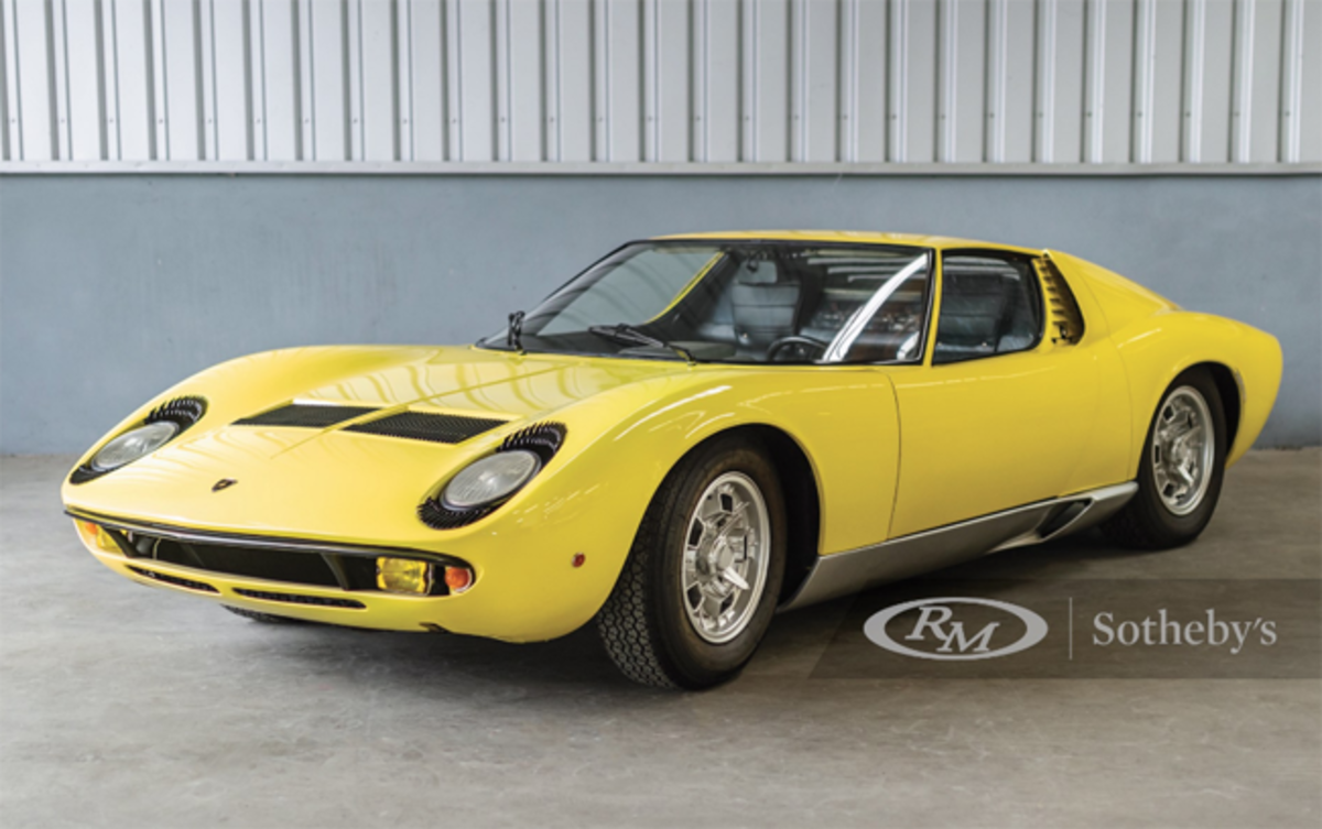 1968 Lamborghini Miura P400 by Bertone Chassis No. 3111 Estimate: €700,000 - €800,000 Offered Without Reserve