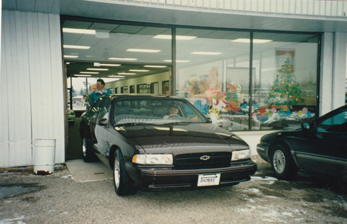 "Randall with his ""last"" Impala back in 1996."