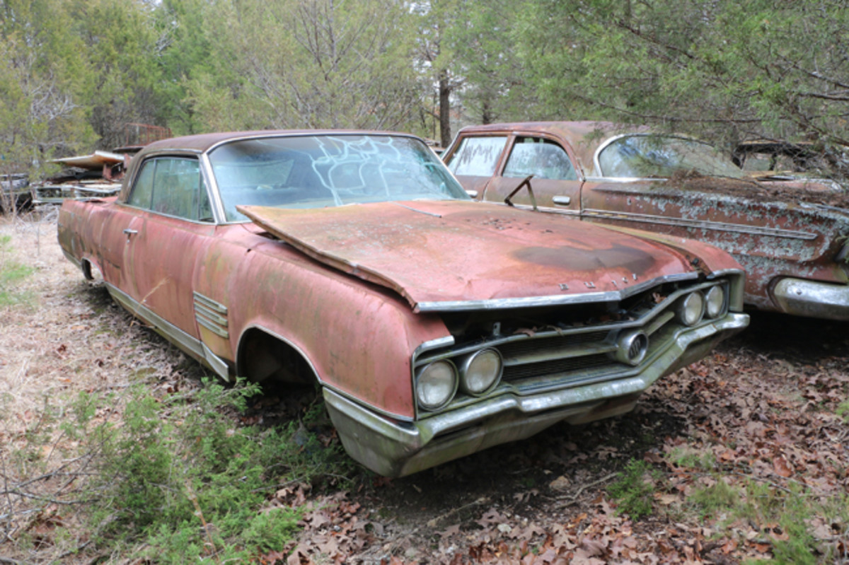 This 1964 Buick Wildcat was equipped from the factory with air conditioning. It has the engine under the hood and good trim parts available.