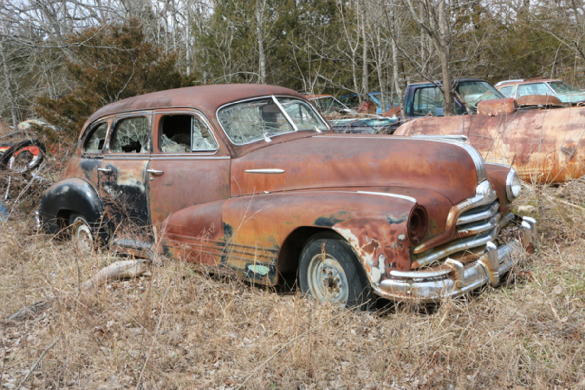 How about this 1947 Pontiac sedan? We always see plenty of Chevrolets sedans such as this in salvage yards, but Pontiacs, not so much.