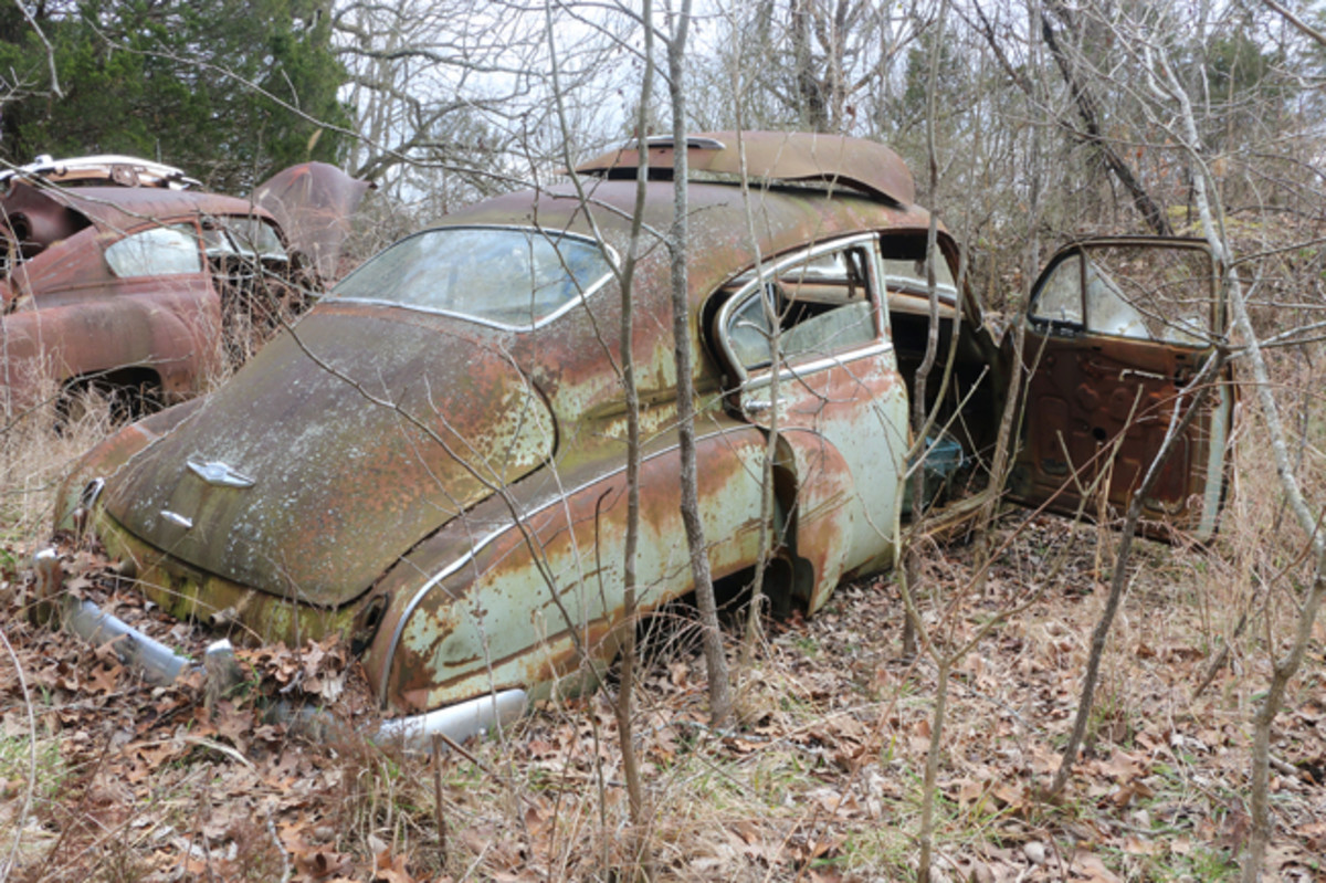 Jackson has three of these Fleetline fastback '49 Chevrolets. One is a four-door, and the other two are two-doors.