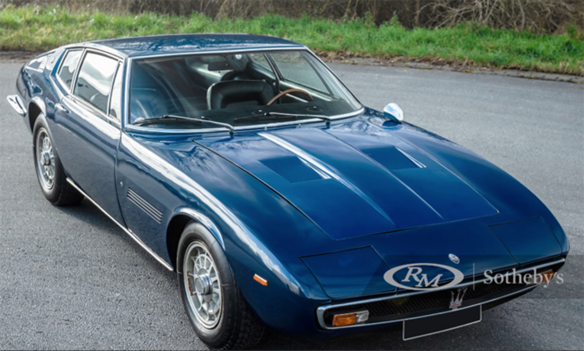 1969 Maserati Ghibli 4.7 Coupé by Ghia Chassis No. AM115 1162 Estimate: €150,000 - €180,000 Offered Without Reserve