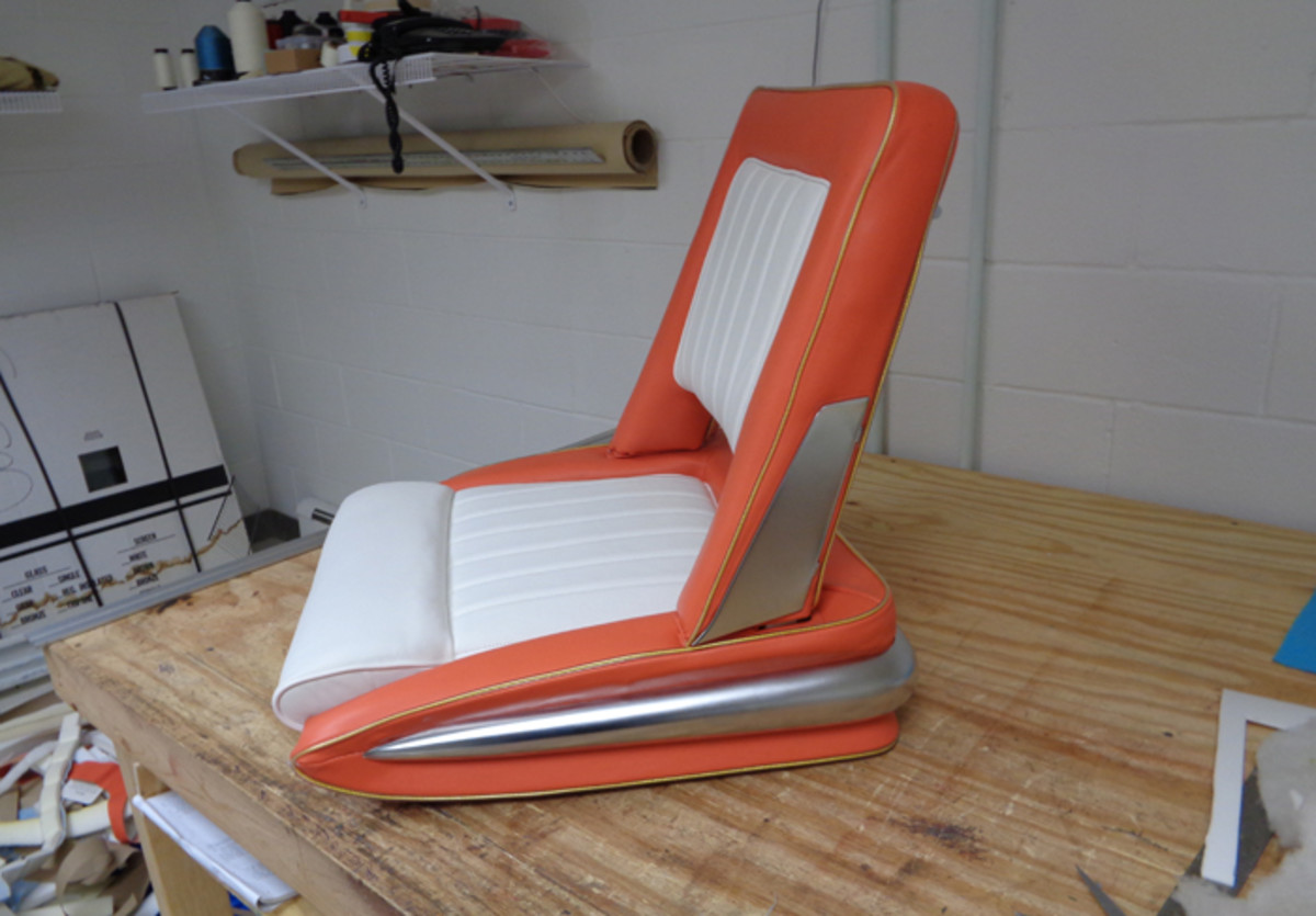"When we last left off, I had just completed upholstering one of the seats as a diversion from the extensive metal fabrication of the body. Today, we'd consider the 1956 XM-Turnpike Cruiser's seats as being very""Jetsonish,"" but in reality, the car predated the televised cartoon by nearly a decade."