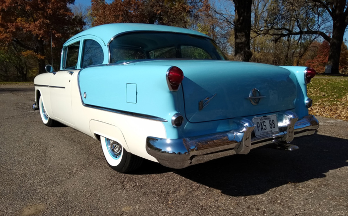 A thorough and speedy restoration took this 1954 Oldsmobile Super 88 down to its bare body shell and frame and back to like-new condition in nine months.