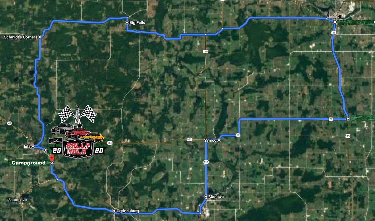 Iola Rally Street Route