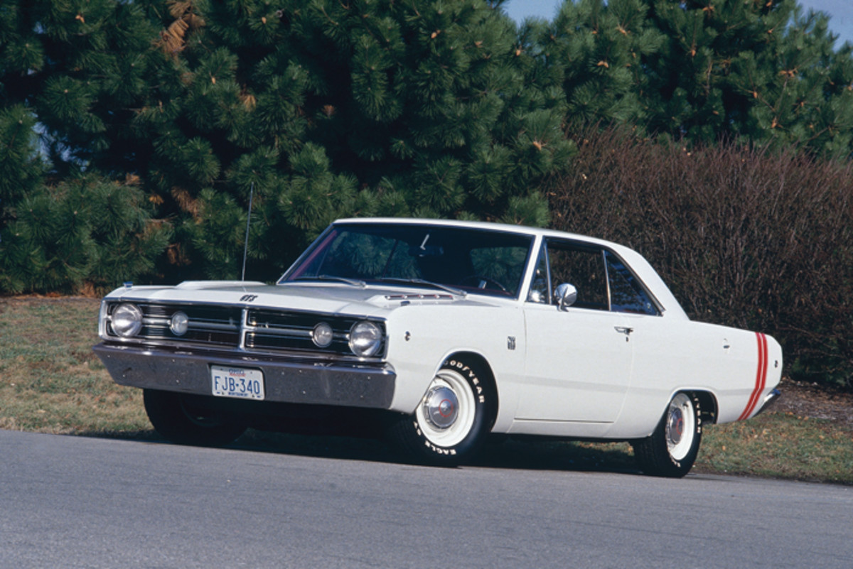 The '68 Dart GTS had an available 340-cid/300-hp V-8 and sporty styling, and was a lot of muscle car for the money.