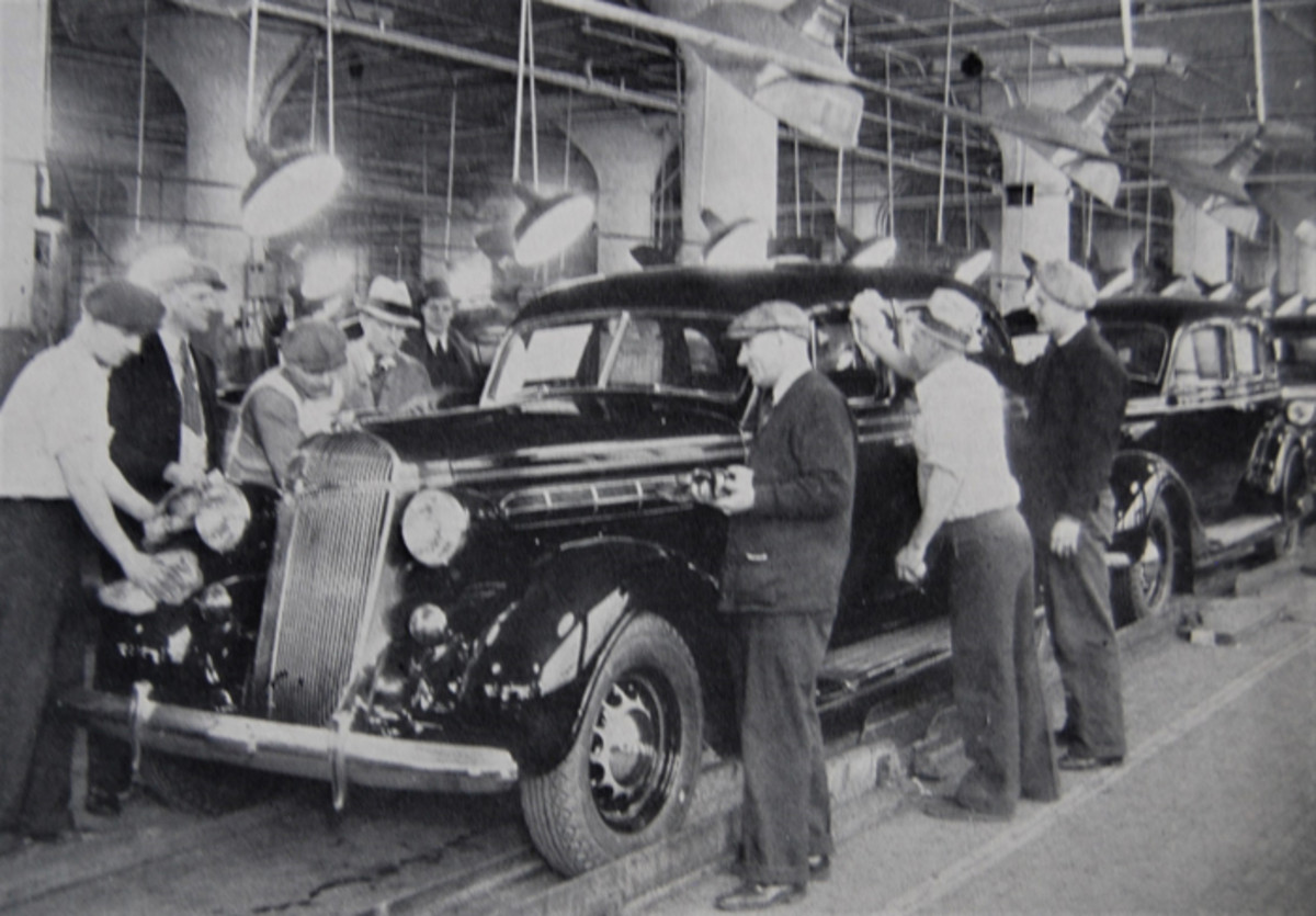 Due to the work of thousands, Chrysler Airstreams rolled off a line looking like this.